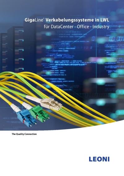 Titelseite: Verkabelungssysteme in LWL für DataCenter · Office · Industry