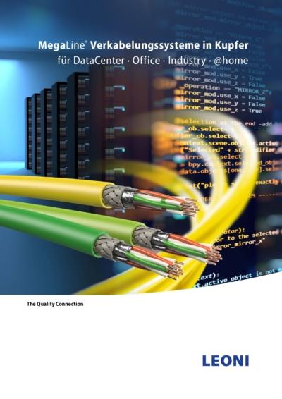 Titelseite: Verkabelungssysteme in Kupfer für DataCenter · Office · Industry · @home